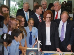 Redcliffe High students impress PM